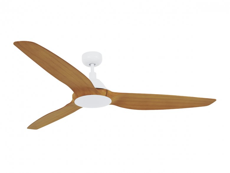 Lucci Air Airfusion Type A White with Teak blades